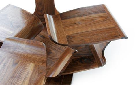 Modern Desks, Make Room: Wonderful Rotating Workspace