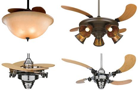 Hidden Ceiling Fan semi-hidden fan design features retractable blades