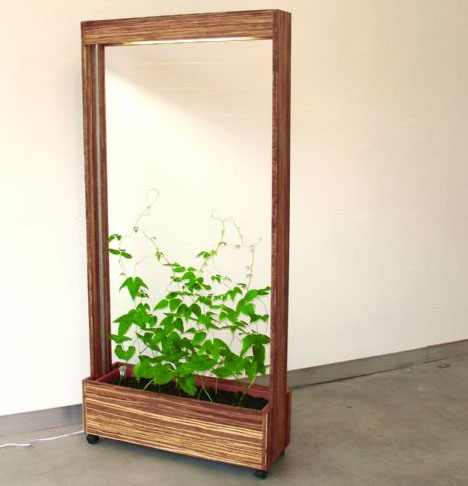 Vegitated Furniture: A Green Growing Room Divider