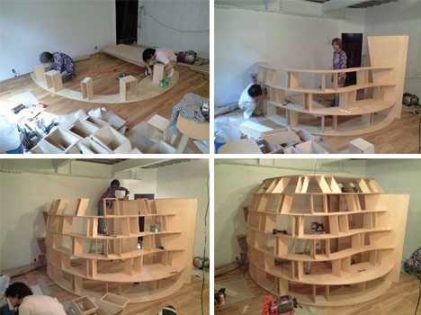 Do it yourself wooden bedroom bookshelves design for Step by step to build a house yourself
