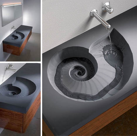 Brilliant Spiral Sink And Wash Basin Design