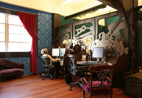 Creative Steampunk Office Design On The Cheap