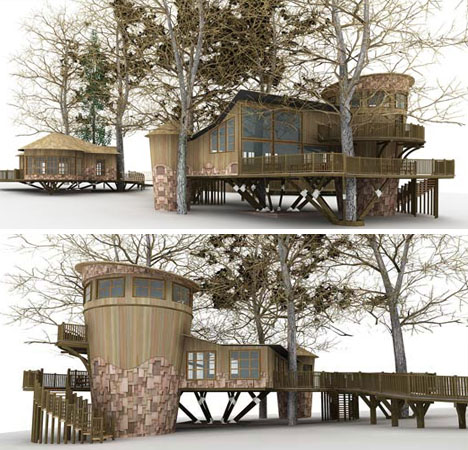 elevated-faux-tree-house-design