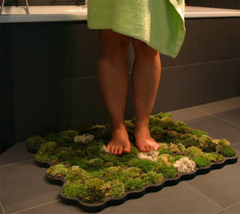green bathroom rug a mat made from real moss rh dornob com green bathroom rug set grey bathroom rugs