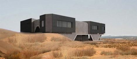 Futuristic Modern Beach House Design | dornob from dornob.com