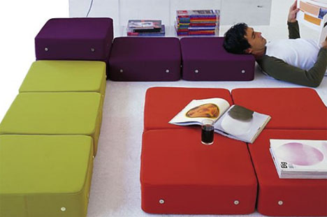 Create Furniture From Building Block Floor Cushions