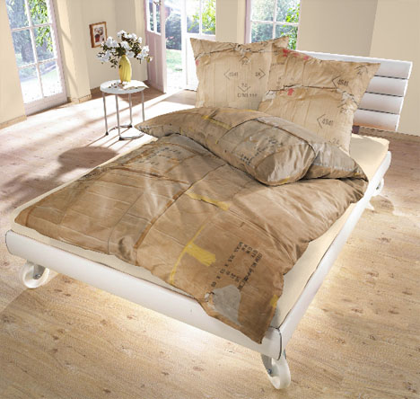 recycled-cardboard-bed-sheets