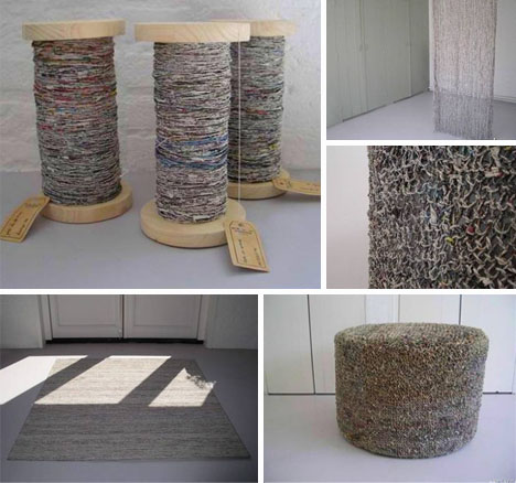 Colorful DIY Home-Spun Yarn from Recycled Newspapers   Designs