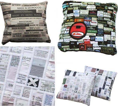recycled-mattress-tag-pillow-art