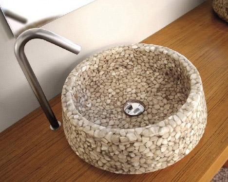 resin-pebble-sink