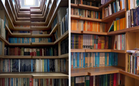Stairs And Bookcase Two In One Interior Design