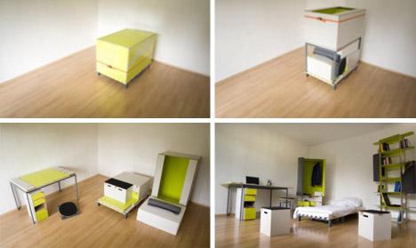 Creative Bedroom Room-in-a-Box Interior Design | dornob