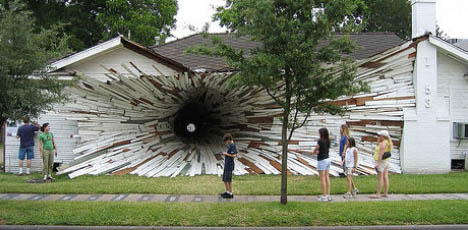 tunnel-exploding-house-art-project