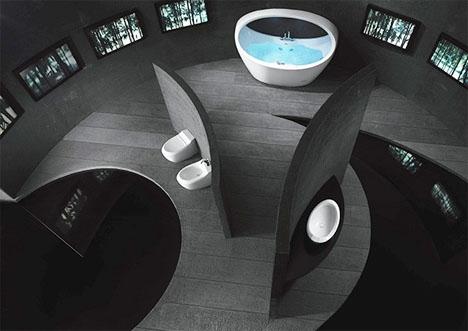 Ultramodern Black Bathroom Interior Design1