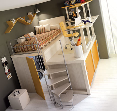 Lofted Space-Saving Furniture for Bedroom Interiors | Designs
