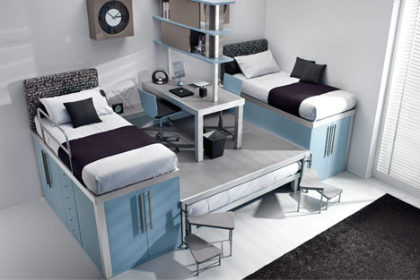 Bedroom Designs Space Saver lofted space-saving furniture for bedroom interiors