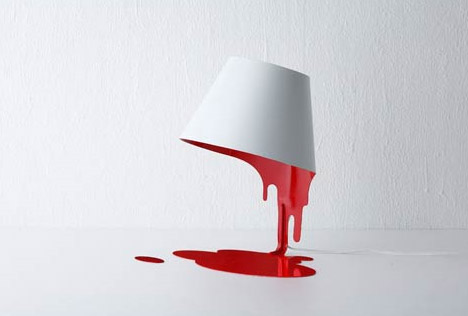 Bloody Cool? Bleeding White and Red Lamp Design