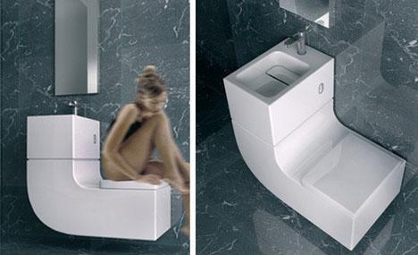 Combined Toilet Sink Design