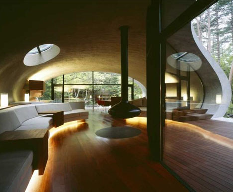 curved-home-spiral-interior & Shell House Design: Spectacularly Curved Architecture | Designs ...