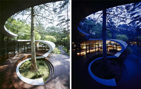 Shell House Design Spectacularly Curved Architecture - Curvy-spiral-house-design