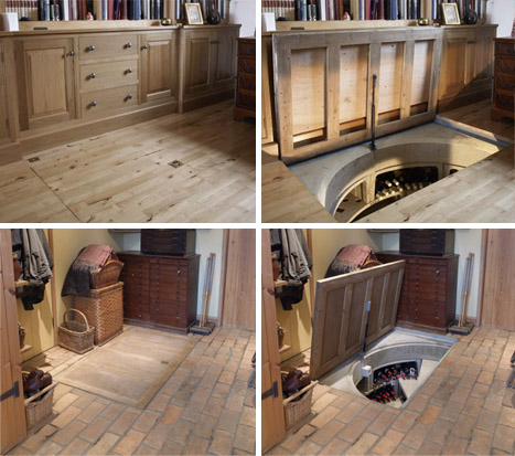 Trap Doors In Houses Prepossessing Wonderful Wine Cellars For Any Room In  Your House Design Ideas