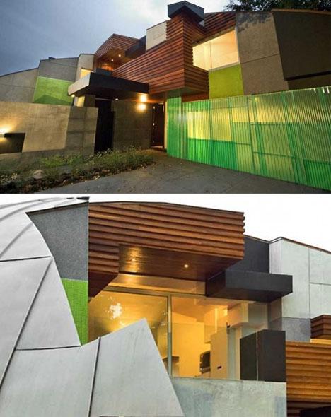 funky-unusual-curved-metal-house