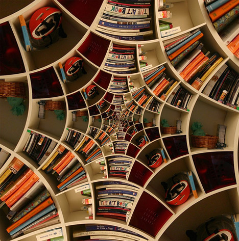 Seemingly Impossible Spiral Bookcase Designs