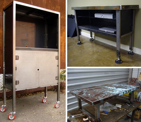 Recycled Metal Furniture From Scrap Car Hoods Designs Ideas On