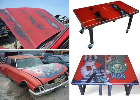 metal-scrap-recycled-table-art