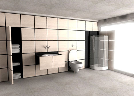 All-in-One Modular Transforming Bathroom Design