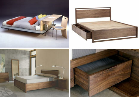 Multi Functional Beds Designed With Desk Drawer Space