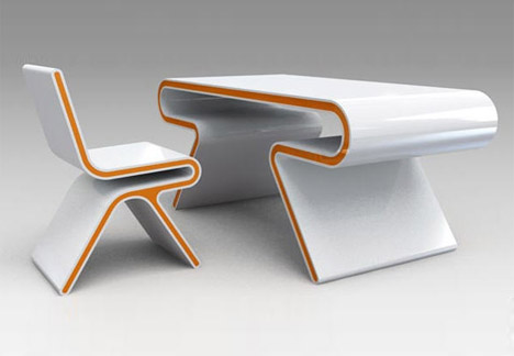 Futuristic Furniture Ultramodern Desk Chair Design Set Designs