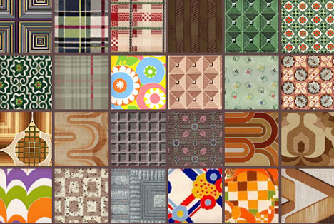 Vintage Retro Patterned Prints