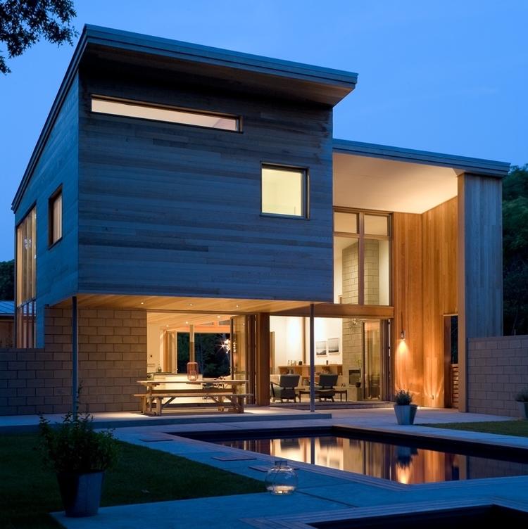 Modern Green House Design Mixes New & Old