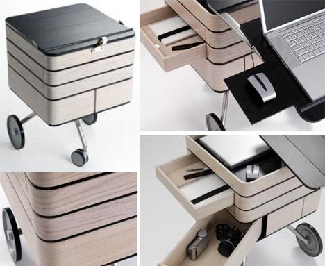 Transforming Fold Out Storage Unit Amp Computer Desk