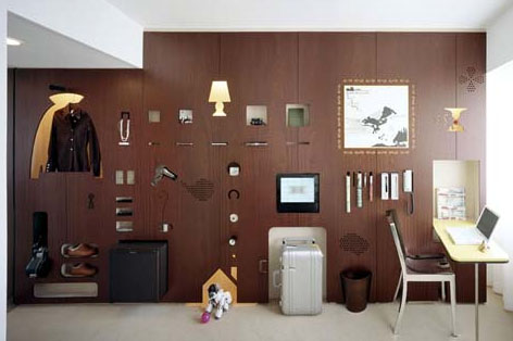 Form Fitting Function Creative Hotel Room Interior