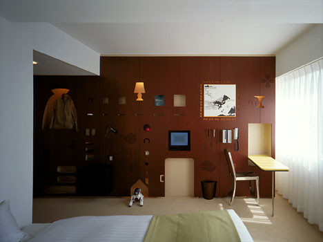 Hotel Room Interior form-fitting function: creative hotel room interior