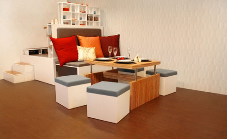 All-in-One Modular Fold Out Living Room Furniture Set