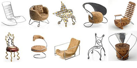 Creative Recycled Cork Chairs