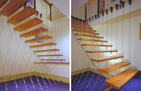 Creative Hanging Floating Suspended Staircases