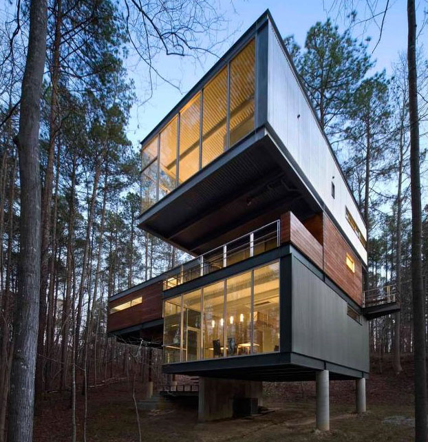 New Home Designs Latest Modern Homes Ultra Modern: Ultramodern Cabin? Creative Modernist Forest Home