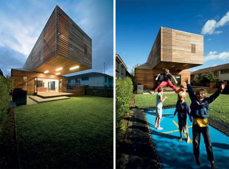 Modern Wood Cantilever Home