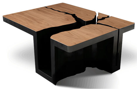 Simply elegant extruded tree coffee table design - Table basse luxe design ...