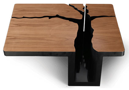 Simply Elegant Extruded Tree Coffee Table Design