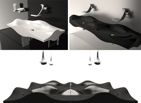 ulta-modern-curved-polished-sinks