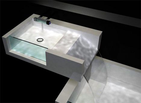 Superbe Combined Bathtub Sink Waterfall Design