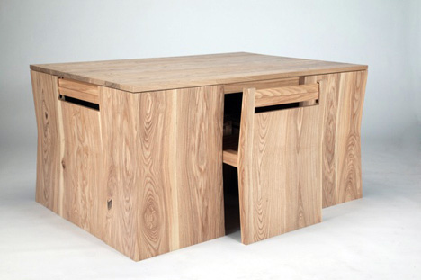 combined-wood-table-chairs-design