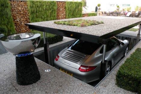 Secret Agent Style Stealth Lift Patio Car Elevator Designs Ideas On Dornob