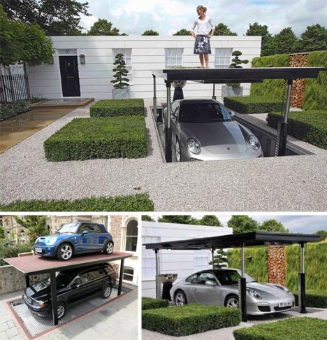 Secret agent style stealth lift patio car elevator elevator lifting underground car garage solutioingenieria Images