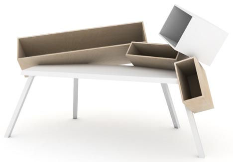 funky-angled-wood-desk-design